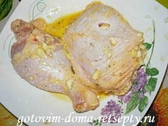 курица жареная в панировке фаршированная чесноком 9