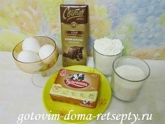 шоколадные маффины с жидкой начинкой 1