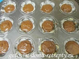 шоколадные маффины с жидкой начинкой 10