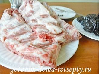 свиные ребрышки с черносливом 2
