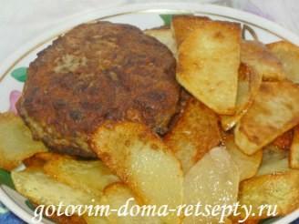 куриные котлеты с грибами и домашними чипсами, рецепт с фото 13