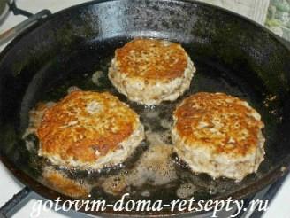 куриные котлеты с грибами и домашними чипсами, рецепт с фото 9