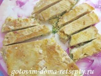 рецепт куриного мяса с омлетной прослойкой или ленивый рулет 14
