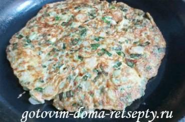 рецепт куриного мяса с омлетной прослойкой или ленивый рулет 5