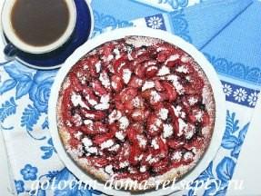 творожный пирог с ягодами, рецепт с фото