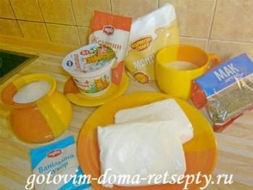 творожный десерт с желатином и маком 1
