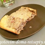 Рыбный пирог из консервированной сайры