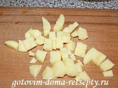 белое рагу из кабачков, курицы и картофеля 1