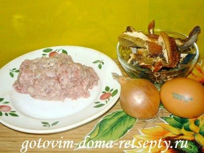ленивые куриные зразы с сушеными грибами 1