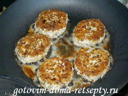 ленивые куриные зразы с сушеными грибами 11