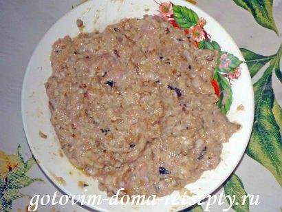 ленивые куриные зразы с сушеными грибами 9