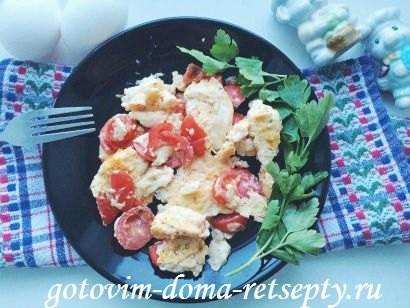 омлет с молоком, сыром и помидорами 12