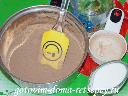 шоколадная помадка из какао с орехами 3