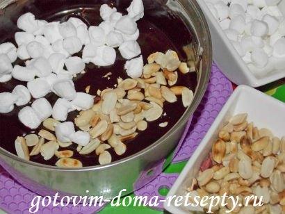 шоколадная помадка из какао с орехами 8