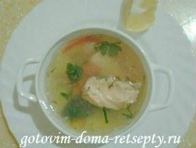 Рыбный суп, рецепт из красной и белой рыбы — семги, горбуши, кеты
