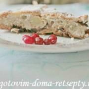 шарлотка с яблоками черносливом и арахисом 12