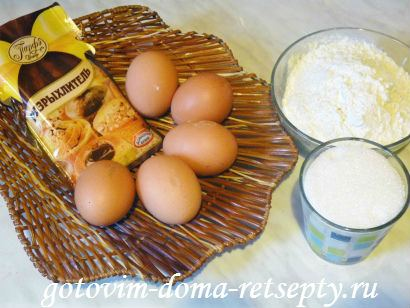 ингредиенты для коржа бисквитного торта