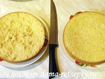 торт с бананами на сметанном креме 8