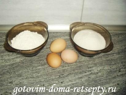 ингредиенты для простых кексов