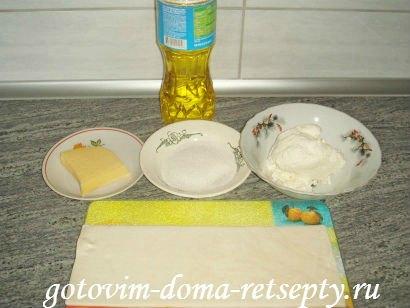 слоеные конвертики с сыром или творогом из готового теста 1
