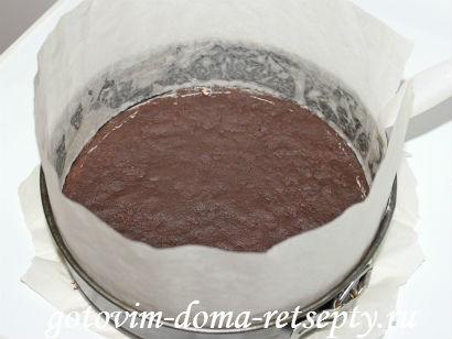творожный десерт с шоколадным печеньем и шоколадом 5