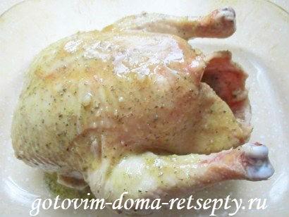 курица в горчично - медовом соусе с апельсинами 8