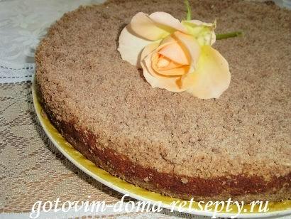 торфяной пирог с творогом и орехами 13