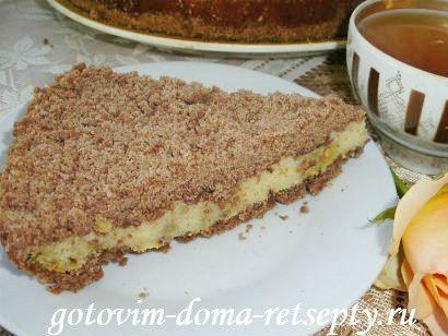 торфяной пирог с творогом и орехами 14