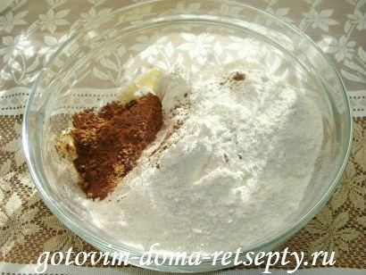 торфяной пирог с творогом и орехами 2