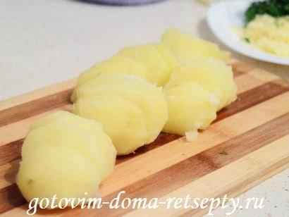 теплый салат с грибами картофелем 8