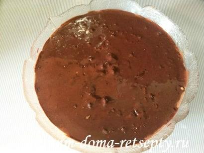 шоколадно - творожный десерт с желатином 12