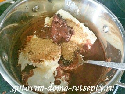шоколадно - творожный десерт с желатином 9