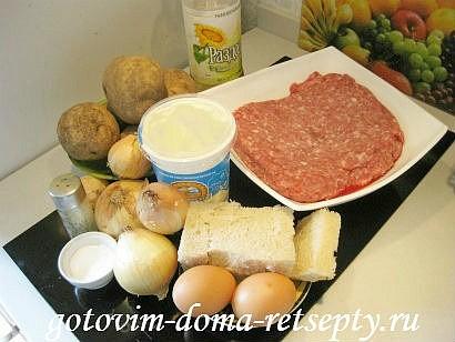 мясной рулет из фарша с картофельной начинкой 1