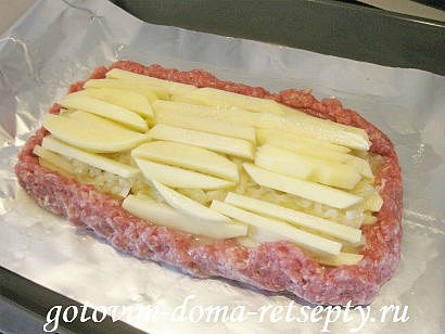 мясной рулет из фарша с картофельной начинкой 11