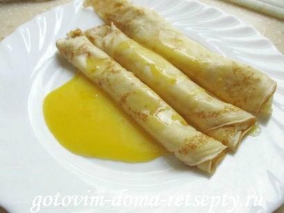 тонкие блинчики на молоке с апельсиновым кремом 16.1