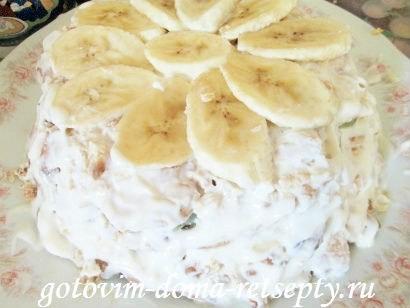 торт из печенья с бананами и киви без выпечки 9