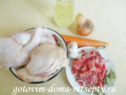 тушеная курица с овощами 1