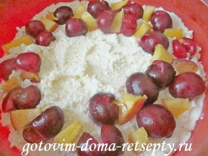 запеканка из творога рецепт с фруктами и ягодами 9