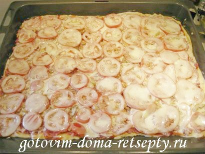пицца мясная с грибами и помидорами 25