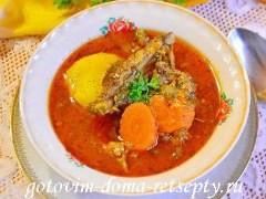 Шурпа из баранины, рецепт по-узбекски