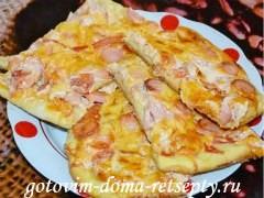 Тонкая пицца, пошаговый рецепт с фото
