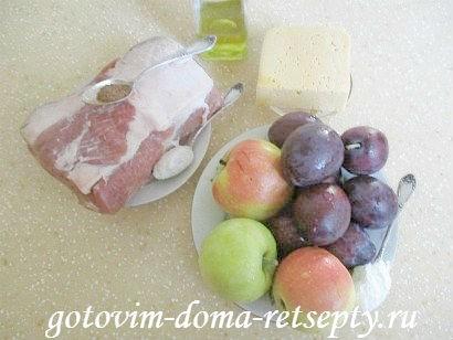 свиные отбивные с фруктами под сыром 1