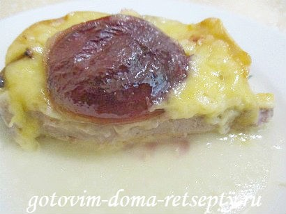 свиные отбивные с фруктами под сыром 14