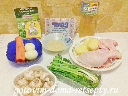 рисовый суп с курицей, рецепт 1