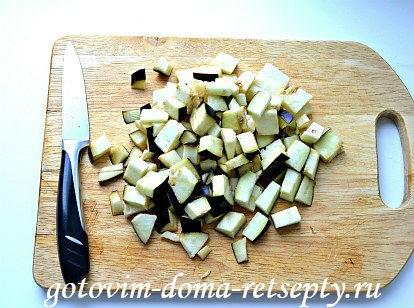 теплый салат с баклажаном и перцами 3