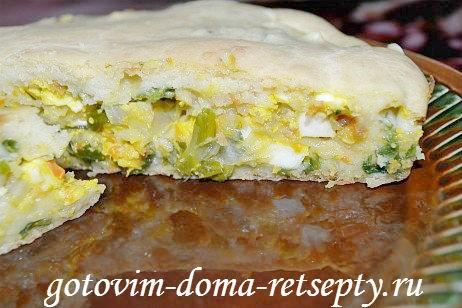 заливной пирог с капустой и яйцами 14