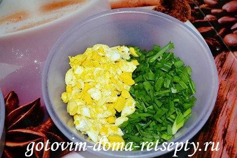 заливной пирог с капустой и яйцами 3