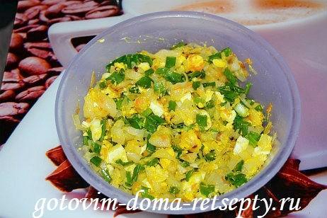 заливной пирог с капустой и яйцами 5