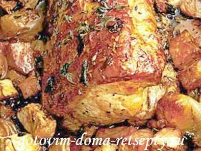 жаркое из свинины с грибами