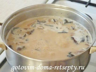 грибной суп из сушеных грибов 4